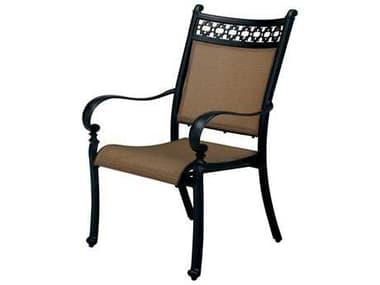 Darlee Outdoor Living Mountain View Antique Bronze Cast Aluminum Sling Dining Chair DA2016101