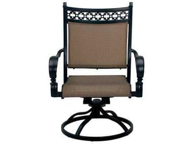 Darlee Outdoor Living Mountain View Cast Aluminum Sling Swivel Rocker Chair in Antique Bronze DA2016103