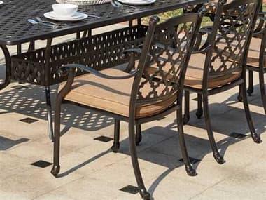 Darlee Outdoor Living Standard Madison Cast Aluminum Dining Chair in Antique Bronze DA2016501