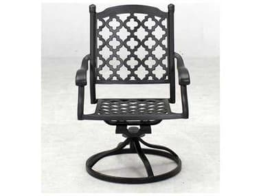 Darlee Outdoor Living Madison Cast Aluminum Swivel Rocker Chair in Antique Bronze DA2016503