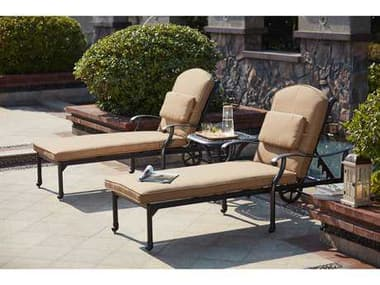 Darlee Outdoor Living Madison Cast Aluminum Deep Seating Set with 21 Inch Square / 48 x 21 Rectangular in Antique Bronze DA2016503PC3360A
