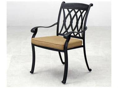 Darlee Outdoor Living Quick Ship Capri Antique Bronze Cast Aluminum Dining Chair DA2016601