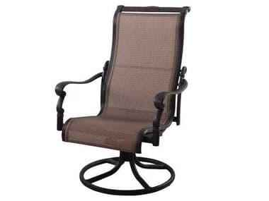Darlee Outdoor Living Monterey Cast Aluminum Antique Bronze Swivel Rocker Chair DA3011103