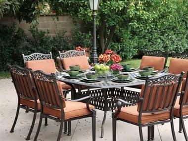 Darlee Outdoor Living Charleston Antique Bronze Cast Aluminum Dining Set DACHARLESTONSETF