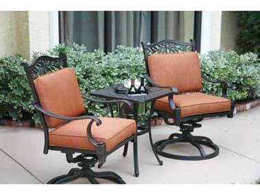 Darlee Outdoor Living Charleston Antique Bronze Cast Aluminum Lounge Set DACHARLESTONSETH