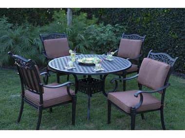 Darlee Outdoor Living Charleston Antique Bronze Cast Aluminum Dining Set DACHARLESTONSETI