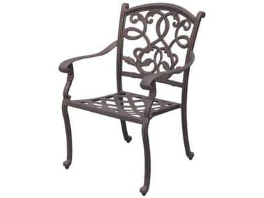 Darlee Outdoor Living Santa Monica Cast Aluminum Antique Bronze Dining Chair DADL20521