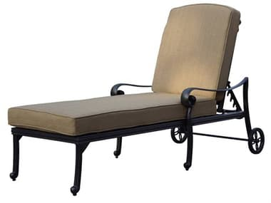 Darlee Outdoor Living Santa Monica Cast Aluminum Antique Bronze Chaise Lounge DADL205233