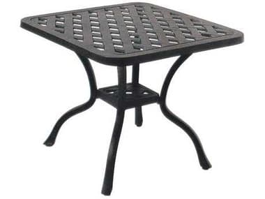 Darlee Outdoor Living Series 30 Cast Aluminum Antique Bronze 21 Square End Table DADL30A