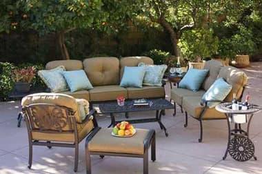 Darlee Outdoor Living Elisabeth Cast Aluminum Antique Bronze Lounge Set DADL708