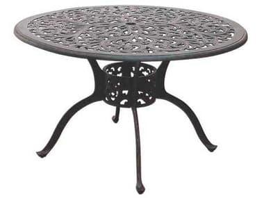Darlee Outdoor Living Series 80 Cast Aluminum Antique Bronze 48 Round Dining Table DADL80C
