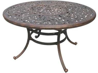 Darlee Outdoor Living Series 80 Cast Aluminum Antique Bronze 52 Round Dining Table with Ice Bucket DADL80DQ