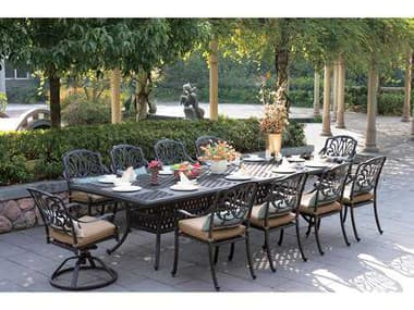Darlee Outdoor Living Elisabeth Antique Bronze Cast Aluminum Dining Set DAELISABETHSETB