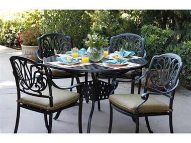 Darlee Outdoor Living Elisabeth Antique Bronze Cast Aluminum Dining Set DAELISABETHSETC