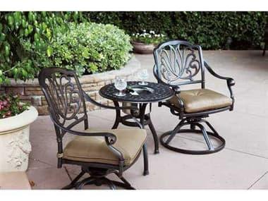 Darlee Outdoor Living Elisabeth Antique Bronze Cast Aluminum Lounge Set DAELISABETHSETM