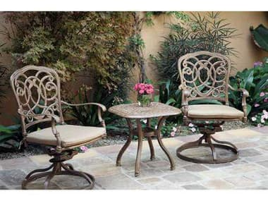 Darlee Outdoor Living Florence Antique Bronze Cast Aluminum Lounge Set DAFLORENCESETM