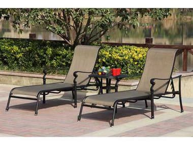 Darlee Outdoor Living Monterey Antique Bronze Cast Aluminum Lounge Set DAMONTEREYSETA