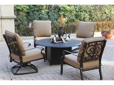 Darlee Outdoor Living Santa Barbara Antique Bronze Cast Aluminum Lounge Set DASANTABARBARASETA