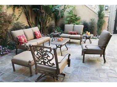 Darlee Outdoor Living Santa Barbara Antique Bronze Cast Aluminum Lounge Set DASANTABARBARASETL