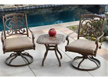 Darlee Outdoor Living Santa Barbara Antique Bronze Cast Aluminum Lounge Set DASANTABARBARASETM