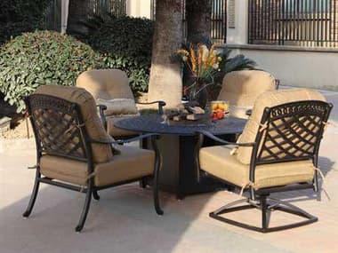 Darlee Outdoor Living Sedona Antique Bronze Cast Aluminum Lounge Set DASEDONASETB
