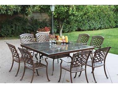 Darlee Outdoor Living Sedona Antique Bronze Cast Aluminum Dining Set DASEDONASETE