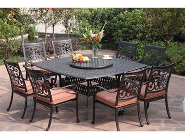 Darlee Outdoor Living St. Cruz Antique Bronze Cast Aluminum Dining Set DASTCRUZSETC