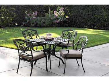 Darlee Outdoor Living Ten Star Antique Bronze Cast Aluminum Dining Set DATENSTARSETE
