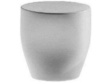 Driade Tokyo-Pop Polyenthylene Monobloc 15.7''W x 14.9''D Oval Small Table / Stool in White DRI9852838