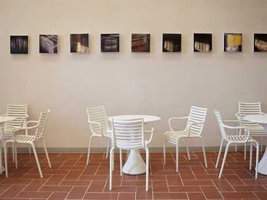 Driade Pip-e Polypropylene Monobloc Dining Set in White DRIPIPEBYPHLPESTRCKDINSET2