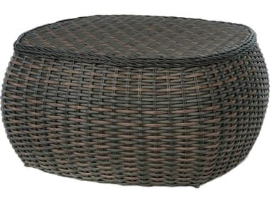 Ebel Dreux Wicker 43'' Wide Round Chat Table EBL735