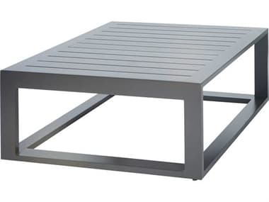 Ebel Palermo Aluminum Graphite 38'' Wide Square Slatted Top Chat Table EBL80590