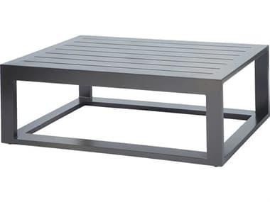 Ebel Palermo Aluminum Graphite 48''W x 26''D Rectangular Slatted Top Coffee Table EBL80890