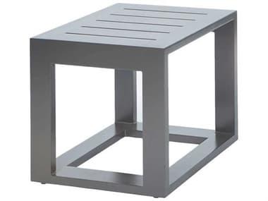 Ebel Palermo Aluminum Graphite 19'' Wide Square Slatted Top End Table EBL80990