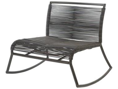 Ebel Monaco Wicker Armless Rocker Lounge Chair EBL857