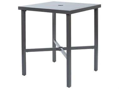 Ebel Monaco Aluminum 30'' Wide Square Counter Table with Umbrella Hole EBL865