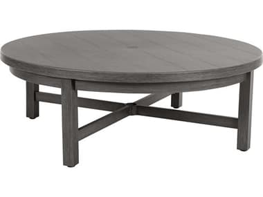 Ebel Trevi Aluminum 50'' Wide Round Plank Top Chat Table EBL955