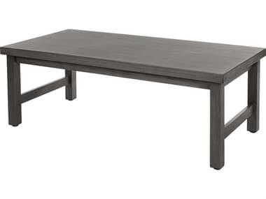 Ebel Trevi Aluminum 48''W x 25''D Rectangular Plank Top Coffee Table EBL958
