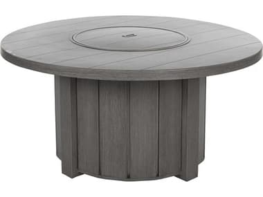 Ebel Trevi Aluminum 50'' Wide Round Plank Top Fire Pit Table with Lid EBL975