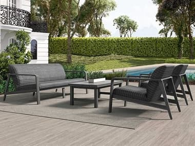 Ebel Canton Padded Wicker Aluminum Lounge Set EBLCANTNLNGSET2