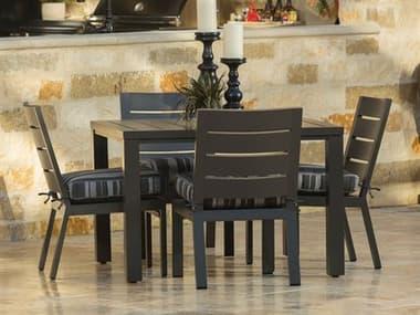 Ebel Palermo Cushion Aluminum Dining Set EBLPLRMODINSET