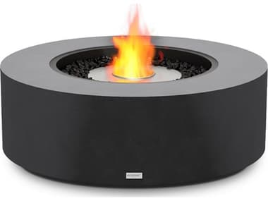 EcoSmart Fire Ark 40 Concrete Graphite 39'' Wide Round Fire Table with  Ethanol Burner ECOESF.O.ARK.40.GH