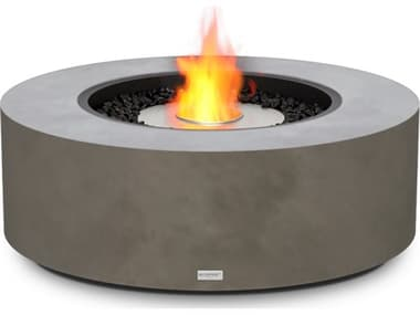 EcoSmart Fire Ark 40 Concrete Natural 39'' Wide Round Fire Table with Ethanol Burner ECOESF.O.ARK.40.NA