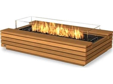EcoSmart Fire Cosmo 50 Teak 50''W x 30''D Rectangular Fire Table with Ethanol Burner ECOESF.O.CMO.50.TN
