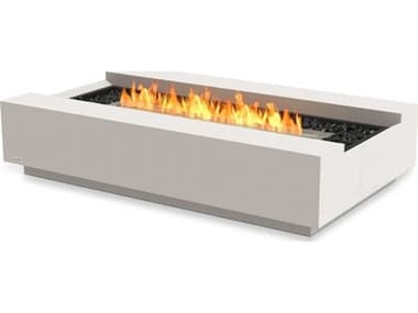 EcoSmart Fire Cosmo 50 Concrete Bone 50''W x 30''D Rectangular Fire Table with LP/NG Gas Burner ECOESF.O.CMO.BO.G