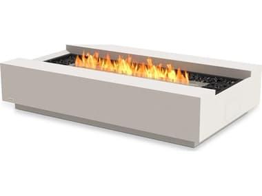 EcoSmart Fire Cosmo 50 Concrete Bone 50''W x 30''D Rectangular Fire Table with Ethanol Burner ECOESF.O.CMO.BO