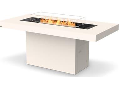 EcoSmart Fire Gin 90 Bar Concrete Bone 89''W x 43''D Rectangular Fire Pit Table with Bioethanol ECOESF.O.GIN.90.B.BO
