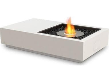 EcoSmart Fire Manhattan 50 Concrete Bone 50''W x 30''D Rectangular Fire Table with LP/NG Gas Burner ECOESF.O.MHA.BO.G