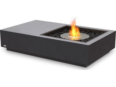 EcoSmart Fire Manhattan 50 Concrete Graphite 50''W x 30''D Rectangular Fire Table with Ethanol Burner ECOESF.O.MHA.GH