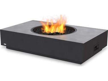 EcoSmart Fire Martini 50 Concrete Graphite 50''W x 30''D Rectangular Fire Table with LP/NG Gas Burner ECOESF.O.MTI.50.GH.G